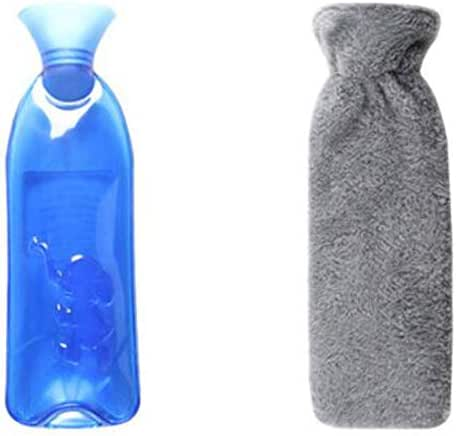 Safe PVC Hot Water Bottle with Cover Keep Warm for Adult Or Child 1.0 Litre(Anti-scalding #03)