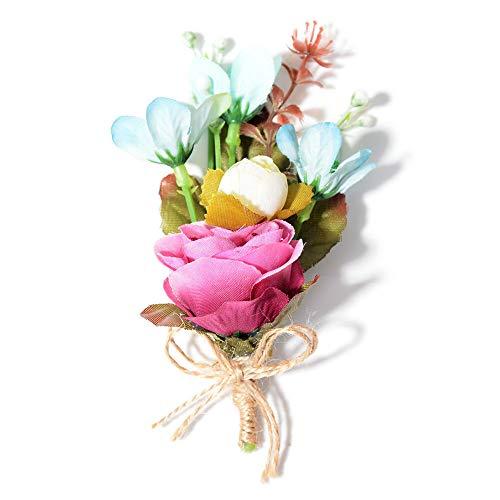 Vintage Gold Alloy Rhinestone Crystal Flower Wedding Bridal Bouquet Brooch Pin | StyleID - #0101