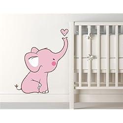 Nursery Decoration Inspiration Pink Nursery Decals - Elephant wall decalsamazoncom elephant bubbles wall decal nursery decor baby