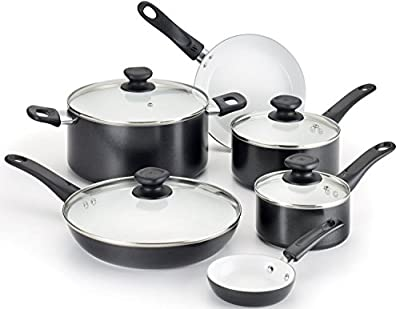 WearEver C943SF Pure Living Nonstick Ceramic Coating PTFE / PFOA Free Dishwasher Safe Cookware set