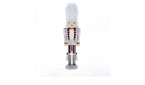 White Red /& Blue Soldier with White Hat New Kurt Adler Hollywood Nutcracker