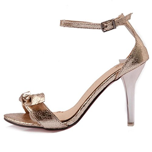 Simple Shoes Gold Straps Heels Sandals Women TAOFFEN 1fwz5w