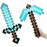 Flourishing Minecraft Blue Diamond Sword & Pickaxe set