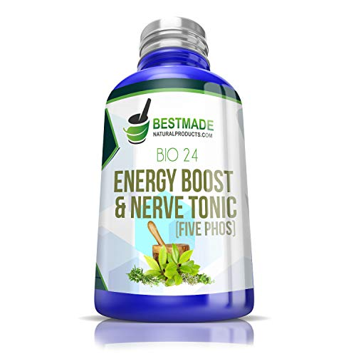 (Five PHOS 6X Energy Boost & Nerve Tonic Max Potency, Feel Alive Again in Days with 5 Potent Minerals for Nervous Fatigue, Anxiety, Depression - Aids Memory, Boosts Cognitive Function,)