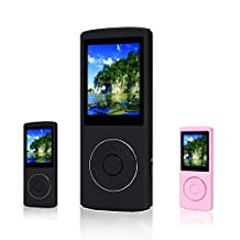 FecPecu Music Player, 16GB MP3 Player 48 Hours Playback Hi-Fi Sound, Portable Audio Player (Black)