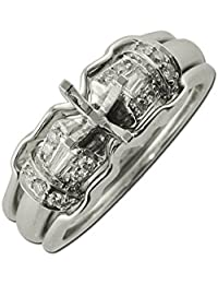 Diamond Bridal Set Semi Mount Ring & Wedding Band 0.30 ct tw in 14K White Gold
