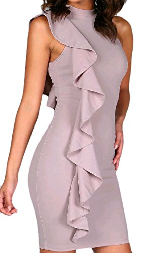 Coolred Fashional Party Sleeveless As Midi Flounced Sleeve Stitch Picture Women Dress Fitness Z6rBqZ