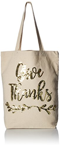 Mud Pie Give Thanks Thanksgiving Canvas Tote