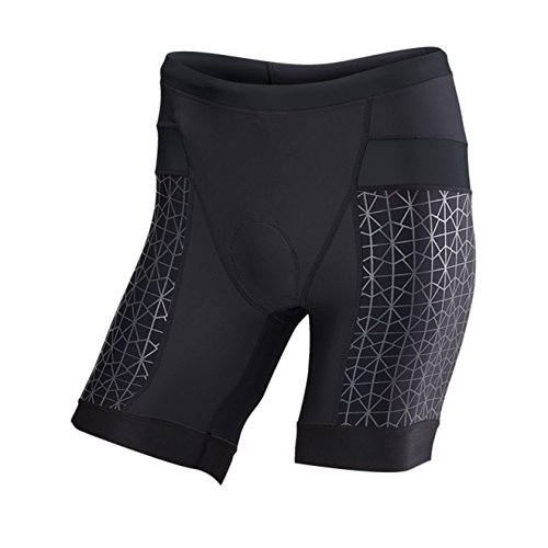 TYR Competitor 7in Tri Short - Men's Black/Black, M by TYR