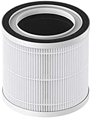 TCL breeva A1 Air Purifier Replacement Filter, True HEPA H13 and Activated Carbon Filter, Remove 99.97% Dust Pollen Pet Dander, Lasts for 90 Days or 3 Months Equivalent to 2,160 Hours, 1 Pack, White