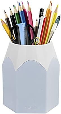 Portalápices, 1Stk. Muelle Pot pérdidas tänder Caja portalápices Lapicero lápices caja oficina accesorios, color azul: Amazon.es: Oficina y papelería