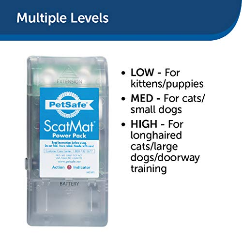 PetSafe ScatMat Indoor Pet Training Mat for Dogs and Cats, Strip Size 46 x 3 inch, Pet Proofing Mat