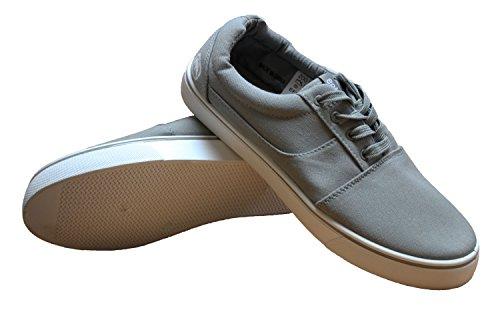 Daim la da ilimitado Mens de scarpe Ginnastica Ginnastica cordón Daim del lona diseñador Hasta Ecko da del Gris scarpe Pompe AveryII TC0Ww4