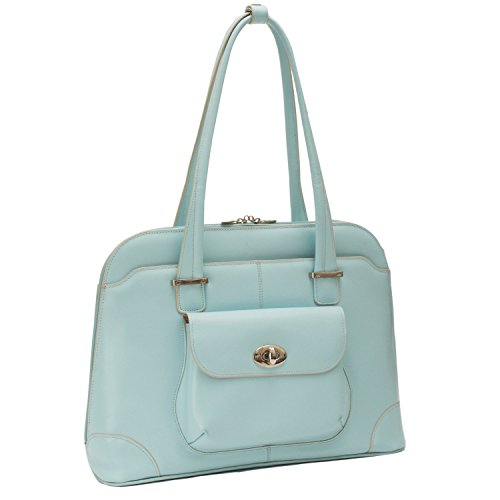 McKlein USA W Series Avon Leather Briefcase for Women Business Tote in Blue