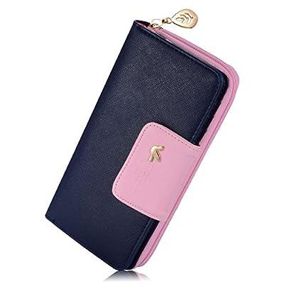 Women's Long Multi-card Position Clutch Wallet Card Holder Purse With Zipper
