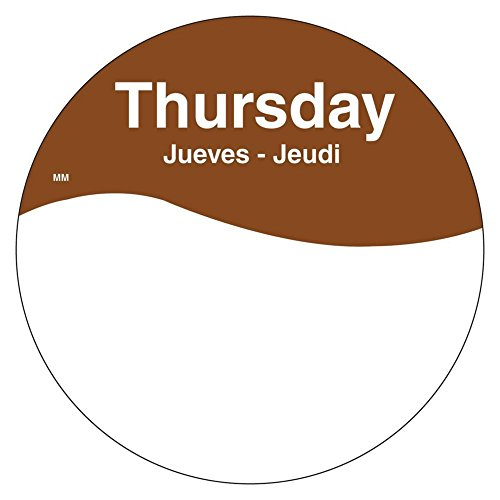 DayMark 1101084 MoveMark Trilingual 3'' Thursday Day Circle - 500 / RL by DayMark Safety Systems