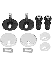 Toilet Seat Screws Hinges Bolt Expanding Rubber Top Nuts Screw Fixings Accessories Toilet Seat Hinge with Bolts and Nuts Top Tightening