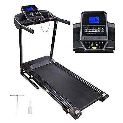 "AW 3.0HP Folding Electric Treadmill Motorized Running Walking Machine Cardio Trainer with LCD 49""x18"" Running Belt"