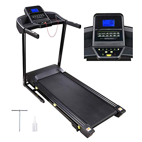 AW 3.0HP Folding Electric Treadmill Motorized Running Walking Machine Cardio Trainer with LCD 49″x18″ Running Belt