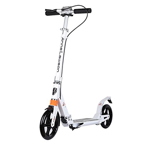 Anluosen Adult Scooter with Double shock absorption, PU Wheel Urban Scooter, Portable Teens Scooter, Double Brake Kick Scooter