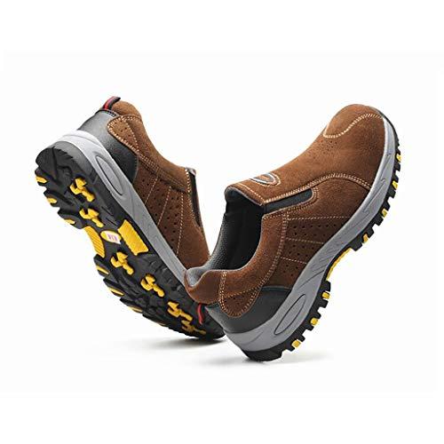 Exterior Hombres aplastante Trabajo Verano Anti Puntera Acero Para Seguridad Protección Transpirable Desodorante Antideslizantes De C Y Zapatos Calzado zZ681wfx1q