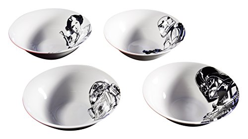 Zak Designs R2-D2, Stormtrooper, Darth Vader & Princess Leia, Ice Cream Bowl, Ceramic 6