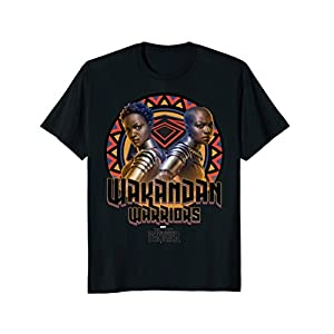 Marvel Black Panther Movie Warrior Circle Graphic T-Shirt