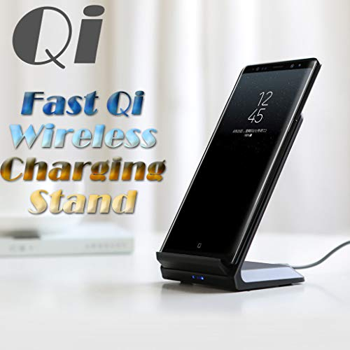 Sodoop Wireless Charger Stand, Fast Qi-Certified Wireless Charging Stand 7.5W Compatible for iPhone Xs MAX/XR/XS/X/8/8 Plus,10W for Samsung Galaxy S10/S10 Plus/S10E/S9 and More 5W Qi-Enabled Devices (Air Circuit Nike)