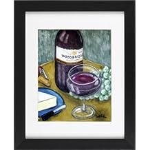 Woodbridge Merlot Red Wine - Bar Restaurant Pub Framed Art Print