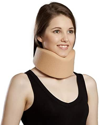 Cervical Neck Collar,Ergonomic Neck Support Brace for Men, Women and Sleeping,Neck Pain Relief (Beige, Large)