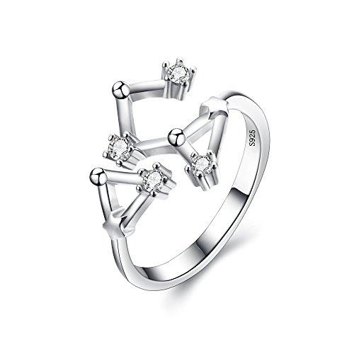 BriLove Women 925 Sterling Silver CZ Statement Ring -