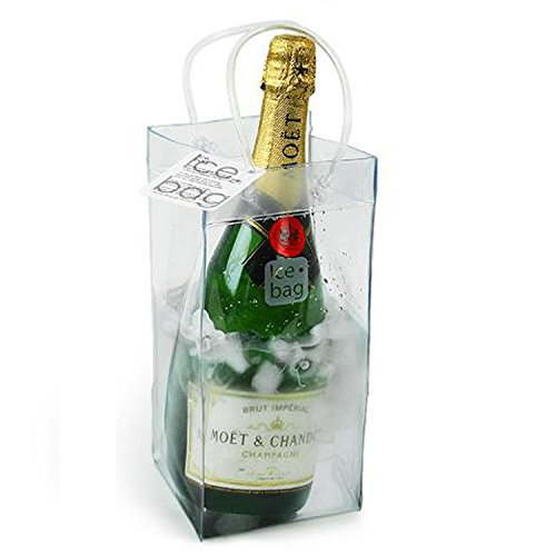 Durable PVC Water Resistant Wine Ice Bag - Dim: 6''Dx 6''W x 9''H, Set of 2 by Ice Bag