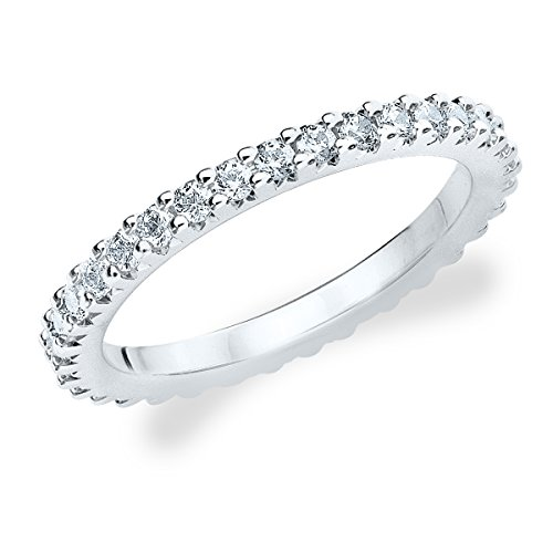 Platinum Diamond Knife Edge Eternity Band (.50 cttw, G-H Color, SI1-SI2 Clarity) Size 6 (Eternity Ring Diamond Platinum)