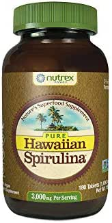 Nutrex Hawaii Pure Hawaiian Spirulina 1000 Milligrams, 180 Tablets