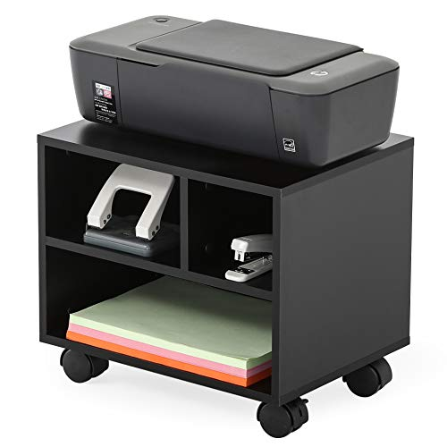 FITUEYES Mobile Under Desk Printer/Machine Stand,Work Cart with Wheels,PS304003WB