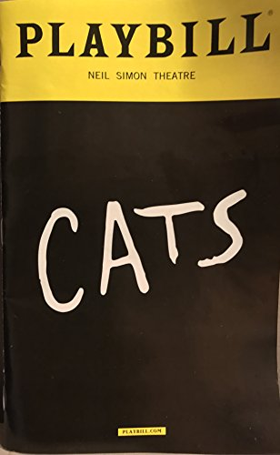 Playbill Theater (CATS Broadway Playbill + Mamie Parris (Grizabella) NYC Revival 2017 Neil Simon Theatre New York Theater)