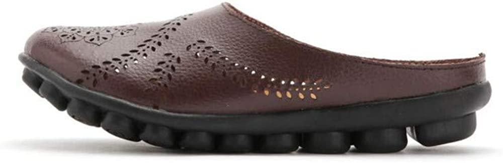 US Women ) Womens Leather Anti-Skid Cow Tendon Bottom Breathable mothersshoes(Brown Lable 36//5.5 B M