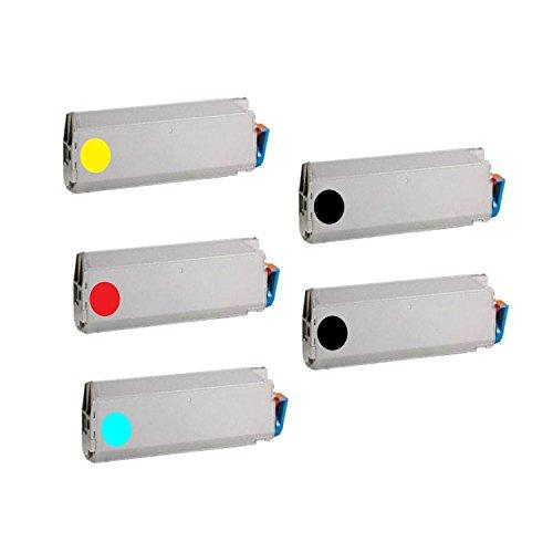 Compatible Okidata 41515205 41515206 41515207 41515208 1Set + 1BK C9400 Toner Color Black Cyan Magenta Yellow