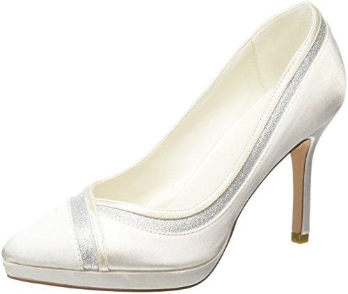 MENBUR Zapatos White Blanco Off con Off Cerrada Felicidad White Punta 04 para Mujer Tacón de CCUnFxrP