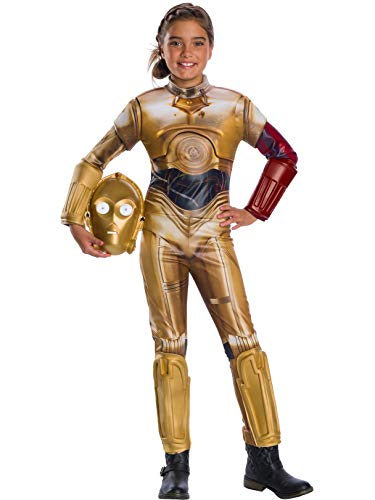Rubie's Star Wars VII: The Force Awakens Deluxe C-3PO Deluxe Girl's Costume, Small -