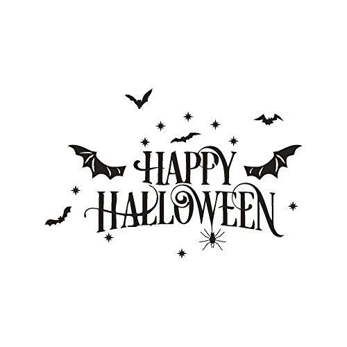 KIKOY Happy Halloween Bone Wall Sticker Window Home Decoration Decal Decor]()