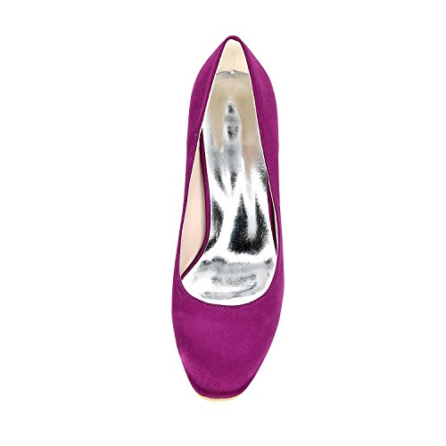 Spring Summer Silver YC amp; Heels Evening L Party Silk Women's Heels Toe Fall Wedding Round ItHCq