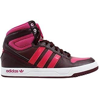 adidas Grade-School Court Attitude J Maroon/Pink-White Sneakers