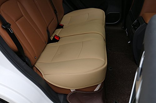 EDEALYN Scalable (124-140cm)back seat cover Car Seat Cover Seat Protector - rear seat bottom (Tan - rear seat)