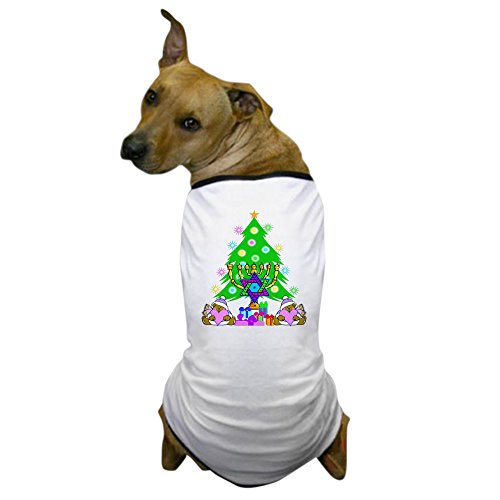 [CafePress - Christmas and Hanukkah Dog T-Shirt - Dog T-Shirt, Pet Clothing, Funny Dog Costume] (Menorah Dog Costume)