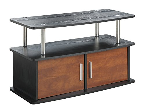 (Convenience Concepts Designs2Go Deluxe 2 Door TV Stand with Cabinets,)