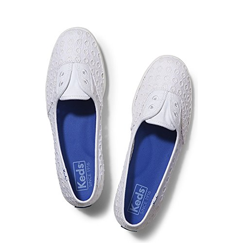 Keds Women's Chillax Mini Eyelet Mesh Fashion Sneaker, White, 8.5 M US