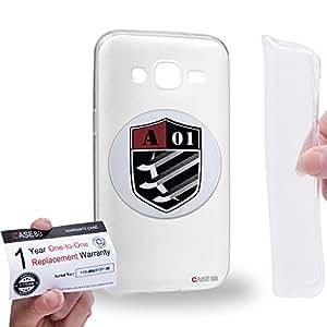 Case88 [Samsung Galaxy J2] Gel TPU Carcasa/Funda & Tarjeta de garantía - World Trigger Border A Class Tachikawa Unit Sigil 2171