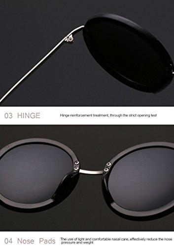 de Retro gafas C4 mujer qbling sol de sol technolog de Oculos marca Nueva gafas ronda diseñador revestimiento Vintage mujer BXwUnqHxYI