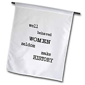 Mark Andrews ZeGear Activist - Well Behaved Women - 18 x 27 inch Garden Flag (fl_16003_2)